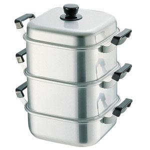【送料無料】アカオアルミ アルマイト角型蒸器 30cm 二重 AMS71302【smtb-u】