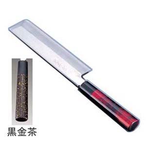【送料無料】歌舞伎調和庖丁 忠舟 薄刃 19.5cm 黒金茶 ATD0304