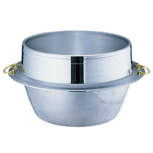 【送料無料】UMIC ウルシヤマ金属 アルミ鋳物キング釜(カン付き) 33cm AKVM906