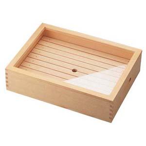 【送料無料】ヤマコー 木製 ネタ箱 目皿・アクリル蓋付 小 ANT1102
