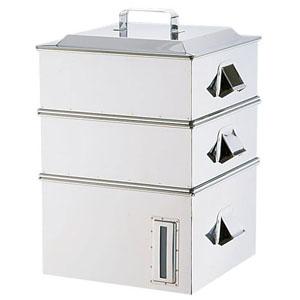 【送料無料】イケダ SA電磁専用業務用角蒸器 2段 33cm AMSA0033