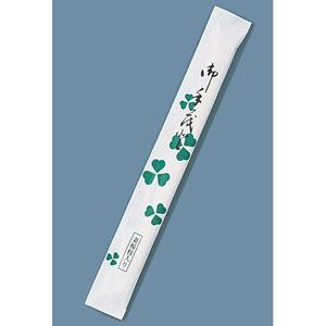 【送料無料】割箸完封 クローバー楊枝入り 白樺小判 (1ケース500膳×8袋入) XHSA4