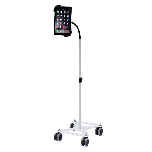 【送料無料】サンワサプライ iPad タブレット用キャスター付きスタンド ホワイト CR-LASTTAB16W【smtb-u】