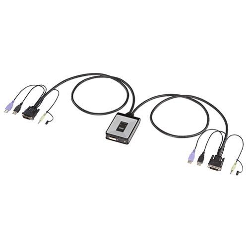 【送料無料】サンワサプライ ディスプレイエミュレーション対応DVIパソコン自動切替器 2:1 SW-KVM2DUN【smtb-u】