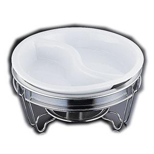 【送料無料】ヴァンセンヌ 丸チェーフイング MF仕様 陶器S仕切中皿 目皿付 NTEM101【smtb-u】
