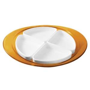 【送料無料】グッチーニ guzzini オードブルディッシュ オレンジ 2291.0045 RGT1206