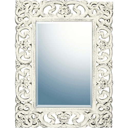 【送料無料】ユーパワー Grace Art Mirror グレースアートミラー プレミア アンティークホワイト GM-22011【smtb-u】