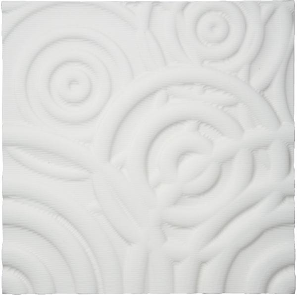 【送料無料】ユーパワー プラデック ウォール アート リップル ホワイト PL-16501【smtb-u】
