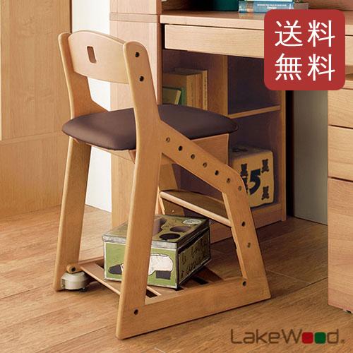 【送料無料】コイズミ 木製チェア レイクウッド ダークブラウン LDC-34 ANDB 【レイクウッドチェア イス 学習椅子】