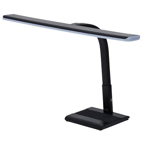 【送料無料】コイズミ LEDデスクライト ブラック PCL-712BK 【高演色 ワイド 調光 USBポート 卓上 照明 学習机 書斎 読書 手芸 ハンドメイド】