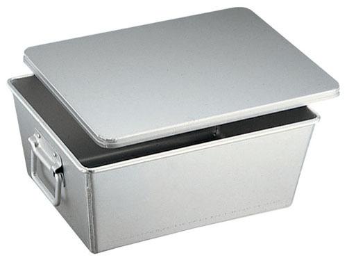 【送料無料】アルマイト 溶接給食用パン箱(蓋付)20個入り 260-B APV21