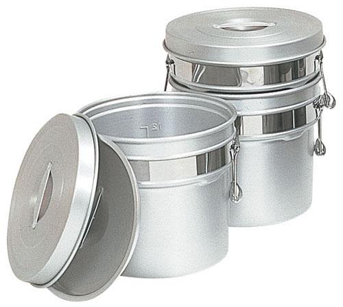 【送料無料】アルマイト段付二重食缶 250R (16l) ASY74250