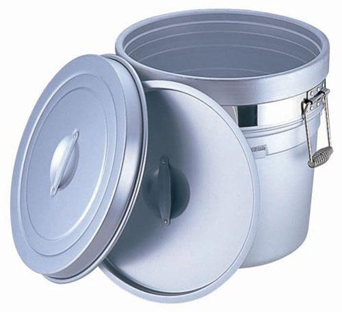 【送料無料】アルマイト 段付二重食缶 (大量用) 250-X (50l) ASYA003