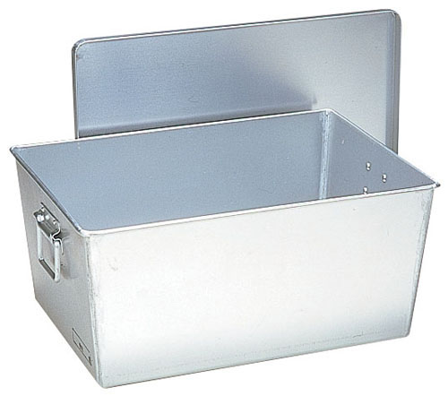 【送料無料】アルマイト 給食用パン箱深型(蓋付)259 60個入 APV152