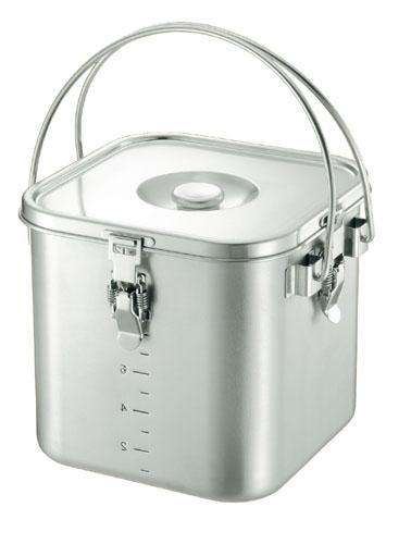 【送料無料】KO 19-0 角型 給食缶 20cm 5645000