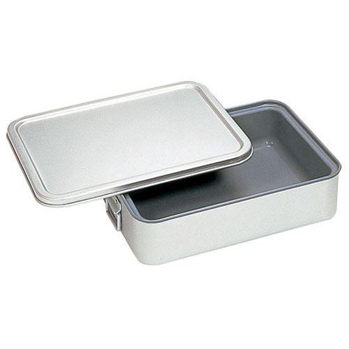 【送料無料】アルマイト 角型二重米飯缶 (蓋付) (内面スミフロン)264-AS ABI111【smtb-u】