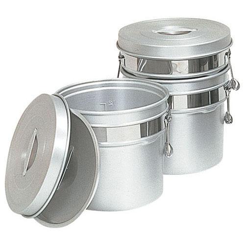 【送料無料】アルマイト段付二重食缶 247R(10l) ASY74247