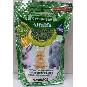 【クリアランスセール】 アラタ ウサギの食べる牧草 アルファルファ ミルキュー入り 520g ◇◇