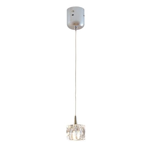 【送料無料】キシマ CUBE 1灯LEDガラスペンダントライト クリア KNC45025