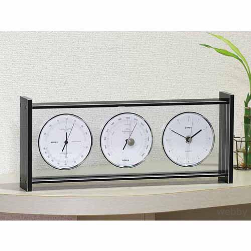 【送料無料】EMPEX エンペックス 気象計 気圧計 時計 温湿度計 スーパーEXギャラリー EX-793