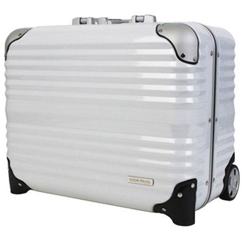 【送料無料】T&S ティーアンドエス LEGEND WALKER HARD CASE 6200 BLADE seriesMETAL FRAME 横型ビジネスキャリー 44cm ホワイトカーボン 6200-44-WHCB