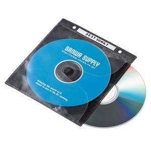 5980円(税込)以上で送料無料&追加で何個買っても同梱0円 サンワサプライ DVD CD不織布ケース リング穴付 100枚入り ブラック FCD-FR100BKN