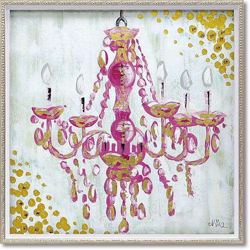 【送料無料】ユーパワー ハンドペイントオイルペイントアート ラブ シャンデリア Mサイズ OP-18074【smtb-u】
