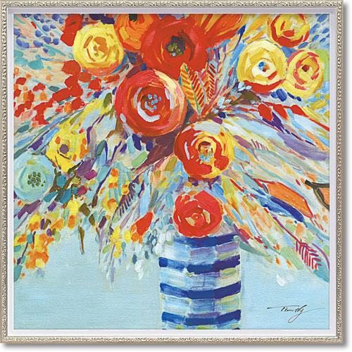【送料無料】ユーパワー ハンドペイント オイルペイントアート M 「ペールフラワーズ」 OP-18011【smtb-u】