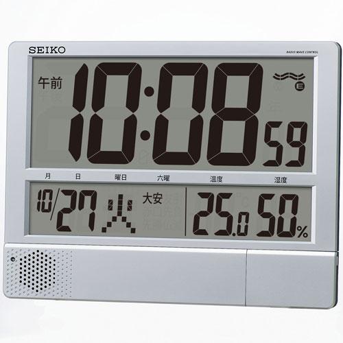 【送料無料】セイコー SEIKO 電波プログラム付掛置兼用時計 SQ434S ZKL7201