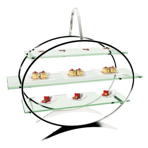 【送料無料】KINGO オーバルフードフレーム 大 ガラスプレート NHC2201