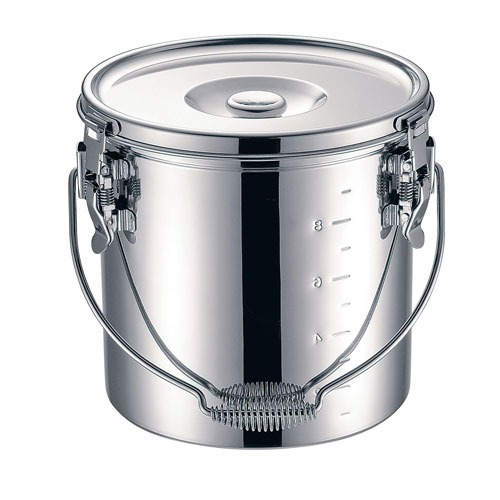 【送料無料】本間製作所 仔犬印 19-0 電磁調理器対応 スタッキング給食缶 24cm ASYG604