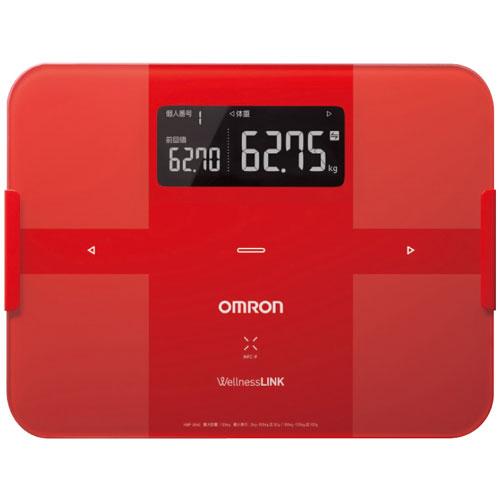 【送料無料】オムロン 体重体組成計 カラダスキャン レッド HB254R【smtb-u】