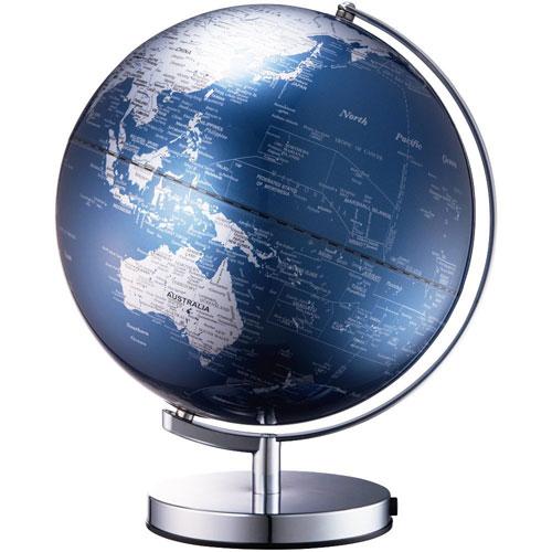 【送料無料】ナカバヤシ 光る地球型オブジェ ライティングアース 20cm ブルー LE-20BL