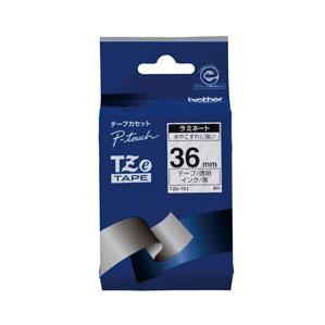 宅送 5980円 税込 以上で送料無料 追加で何個買っても同梱0円 ブラザー 黒文字 [再販ご予約限定送料無料] TZE-161 TZeテープ 透明 36mm