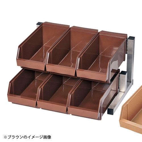 【送料無料】TKG 18-8スマート オーガナイザー 2段3列 6ヶ入 キャメル EOC2704