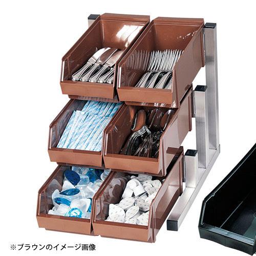 【送料無料】TKG 18-8スマート オーガナイザー 3段2列 6ヶ入 ブラック EOC3002