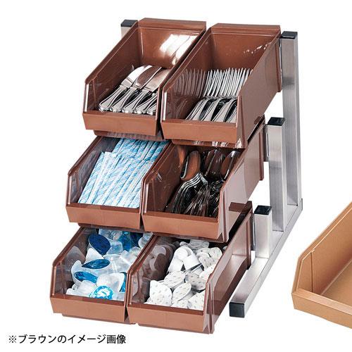 【送料無料】TKG EOC3004 オーガナイザー 3段2列 18-8 キャメル 6ヶ入 スマート