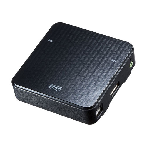 【送料無料】サンワサプライ DisplayPort対応手元スイッチ付きパソコン自動切替器 2:1 SW-KVM2WDPU【smtb-u】