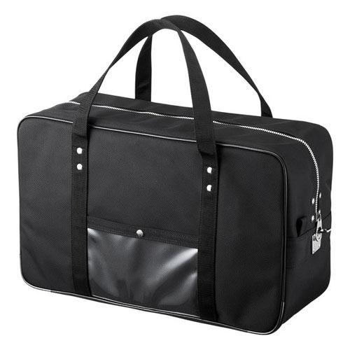 【送料無料】サンワサプライ メールボストンバッグ Lサイズ ブラック BAG-MAIL2BK