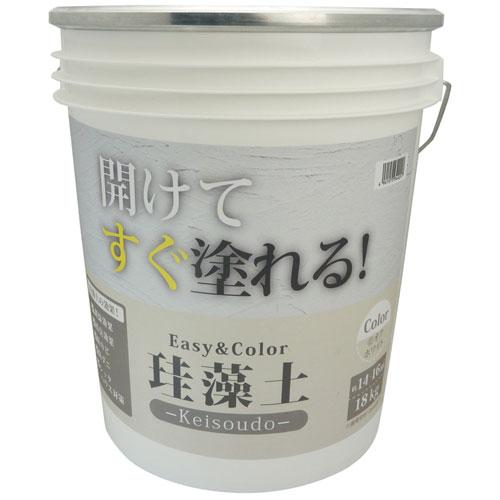 送料無料 追加で何個買っても同梱0円 ワンウィル EasyColor 無料サンプルOK ケイソウ 新品未使用 18kg 珪藻土 オフホワイト