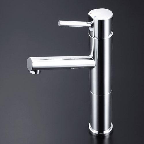 【メーカー包装済】 洗面混合栓ロング LFM612-128 銅管 【送料無料】KVK 2300887:Webby-木材・建築資材・設備