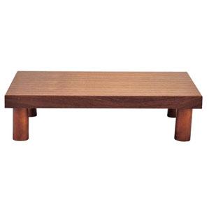 【送料無料】木製 システム ディスプレイスタンド ロータイプ ブラウン 1563930
