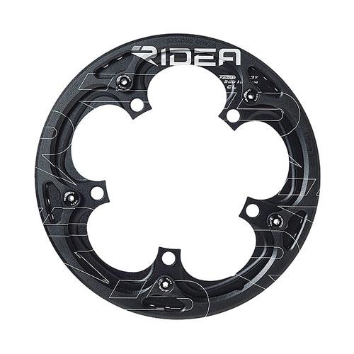 【送料無料】RIDEA リデア 5x-FR5ST-DG Single Speed Chain Ring with Chain Ring Guards ブラック 147-05017【smtb-u】