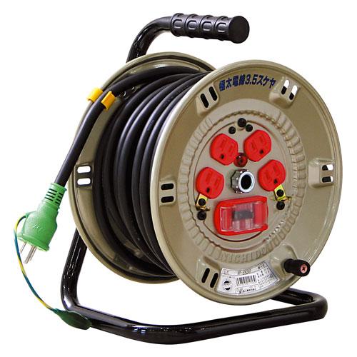【送料無料】日動工業 極太 3.5(mm2)電線仕様ドラム 20m NP-EK24F