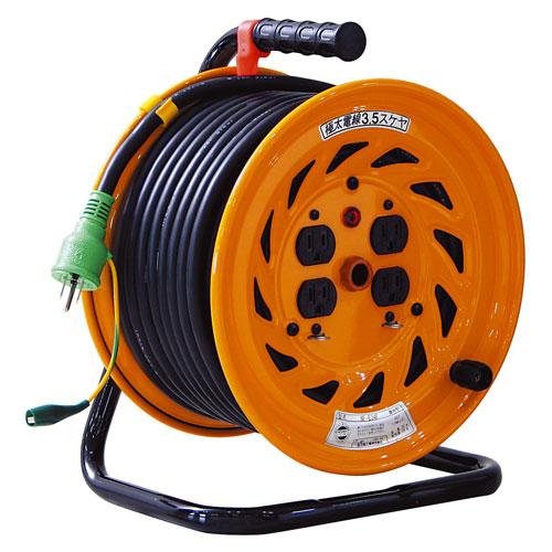 【送料無料】日動工業 極太 3.5(mm2) 電線仕様ドラム 30m NF-E34F