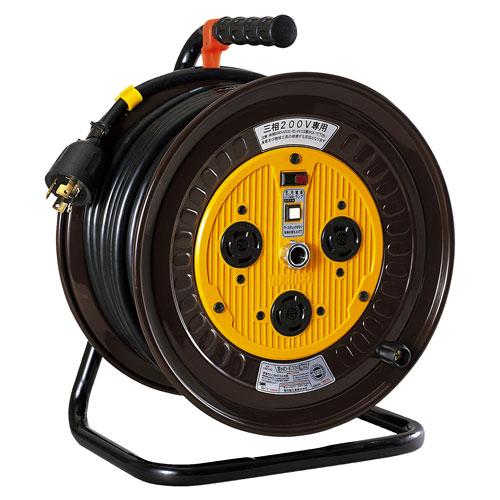 【送料無料】日動工業 三相200Vロック(引掛)式ドラム 30m ND-E330L-20A