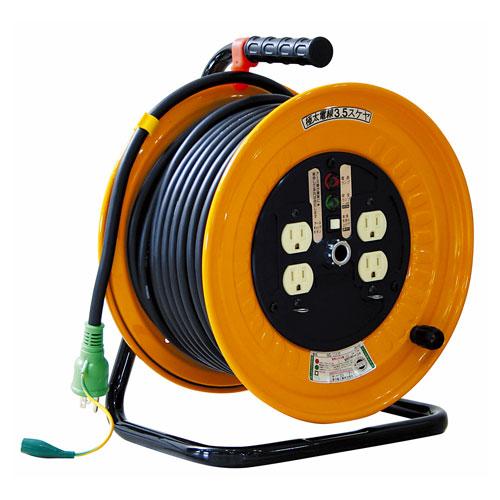 【送料無料】日動工業 極太 3.5(mm2)電線仕様ドラム 30m 100V普通ドラム ND-E34F