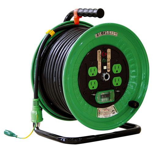 【送料無料】日動工業 極太 3.5(mm2)電線仕様ドラム 30m 100VELBドラム ND-EB34F