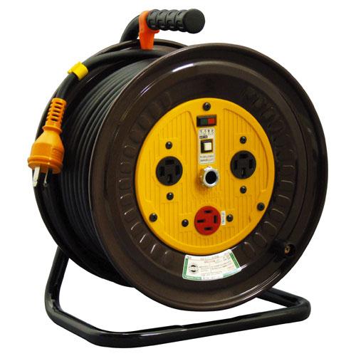 【送料無料】日動工業 三相200V逆転コンセント付動力用電工ドラム 30m ND-E330R-20A