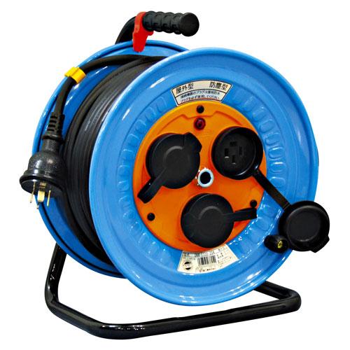 【送料無料】日動工業 防雨・防塵型三相200V動力用電工ドラム 30m DNW-E330F-20A